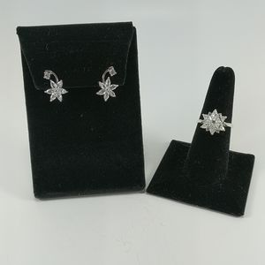 🇨🇦 Crystal Ring and Earrings